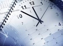 clock over calendar